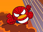 Click to Play QQ Penguin: Spiderman