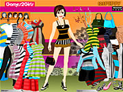 Click to Play Rachel Stripes Dressup