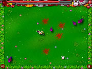 Click to Play Chainsaw Killer Zombie against Cute Little Bunnies