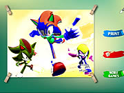 Click to Play Sonic Coloring Game