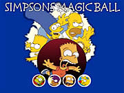 Click to Play Simpsons Magic Ball