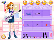 Click to Play Guitar Girl Dressup