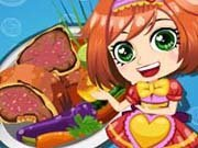 Click to Play Cooking Steak Dinner